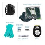 Chemical HAZMAT Suit Kit - Low Key Green Coverall. Urban Escape